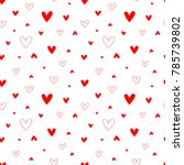 pattern for valentine's  day... | Shutterstock .eps vector #785739802