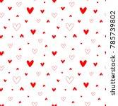 pattern for valentine's  day... | Shutterstock .eps vector #785739802