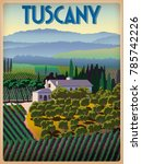 spring day in tuscany  italy.... | Shutterstock .eps vector #785742226