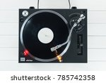 turntable vinyl record player... | Shutterstock . vector #785742358