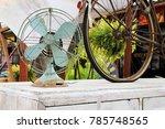 vintage white wooden cabinet...   Shutterstock . vector #785748565