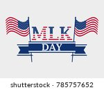 martin luther king day. holiday ... | Shutterstock .eps vector #785757652