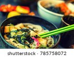 asian dinner on the table | Shutterstock . vector #785758072
