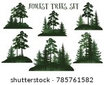 set landscapes  isolated on... | Shutterstock .eps vector #785761582