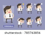 vector set of businesswoman... | Shutterstock .eps vector #785763856