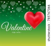 valentines day sale background... | Shutterstock .eps vector #785767366