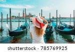 woman in venice | Shutterstock . vector #785769925