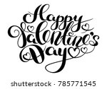 happy valentines day card. hand ... | Shutterstock .eps vector #785771545