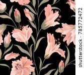 floral seamless pattern. flower ... | Shutterstock .eps vector #785772472
