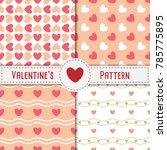 valentine's heart seamless... | Shutterstock .eps vector #785775895