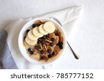 a bowl of cereal on white... | Shutterstock . vector #785777152