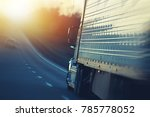 american semi truck on the... | Shutterstock . vector #785778052