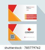 modern creative business card... | Shutterstock .eps vector #785779762