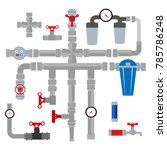 vector collection of detailed... | Shutterstock .eps vector #785786248