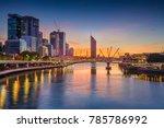 brisbane. cityscape image of... | Shutterstock . vector #785786992