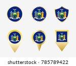 vector flag set of new york  us ...   Shutterstock .eps vector #785789422