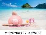 lady sleep and relax on the... | Shutterstock . vector #785795182