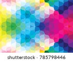 colorful curve abstract... | Shutterstock .eps vector #785798446
