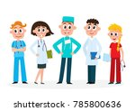 set of doctors  nurse and... | Shutterstock .eps vector #785800636