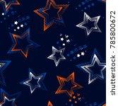 abstract seamless stars pattern ...   Shutterstock .eps vector #785800672