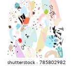 Brush Stroke Pattern. Abstract...