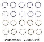 set of vector starburst ... | Shutterstock .eps vector #785803546