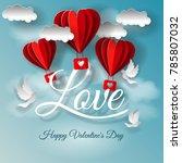 valentine's day illustration.... | Shutterstock .eps vector #785807032