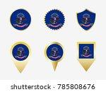 vector flag set of north dakota ...   Shutterstock .eps vector #785808676