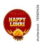 lohri festival of punjab | Shutterstock .eps vector #785809636