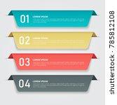 infographics template for... | Shutterstock .eps vector #785812108