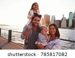 young family with daughters... | Shutterstock . vector #785817082