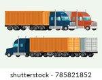 american trucks container... | Shutterstock .eps vector #785821852