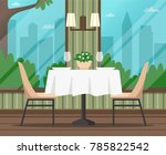 interior of empty cafe ... | Shutterstock .eps vector #785822542