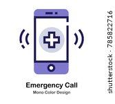 phone and cross symbol mono... | Shutterstock .eps vector #785822716