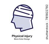 head and bandage mono color icon | Shutterstock .eps vector #785822782