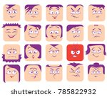 flyers with funny faces ... | Shutterstock .eps vector #785822932