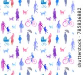 Seamless Pattern Of A People...
