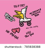 slogan type patch for print   Shutterstock .eps vector #785838388