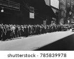 New York Men In A Bread Line...