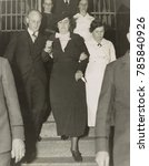 Small photo of Mary Creighton , leaving Nassau County jail for Sing Sing Prison, Jan. 20, 1936. On July 16, 1936, she was executed, along with her accomplice, Everett Applegate, for the poison murder of Ada Applegat