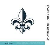 fleur de lis heraldic icon... | Shutterstock .eps vector #785842936