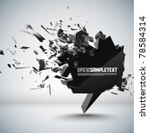 vector speech bubble crushing | Shutterstock .eps vector #78584314