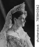 Small photo of Czarina Alexandra Feodorovna, Alix of Hesse, the Empress Consort of Russia, 1908. She was the wife of the last Czar of Russia, Nicholas II