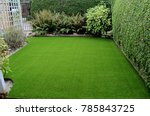 newly laid artificial lawn in... | Shutterstock . vector #785843725