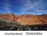red rock canyon   erosion on... | Shutterstock . vector #785844856