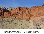 red rock canyon   erosion on... | Shutterstock . vector #785844892