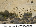red rock canyon   erosion on... | Shutterstock . vector #785845072