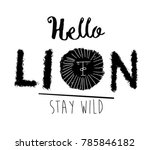 lion illustration and type | Shutterstock .eps vector #785846182