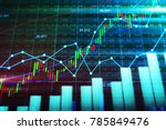 stock market or forex trading... | Shutterstock . vector #785849476