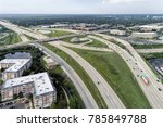 aerial view of a highways ... | Shutterstock . vector #785849788